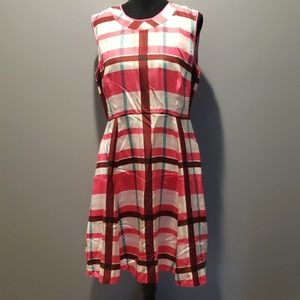 Kate Spade Pink Plaid silk dress